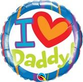 "I Love Daddy 18"" Foil Balloon"