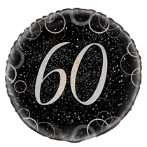 "Silver Glitz 60th Birthday 18"" Foil Balloon"