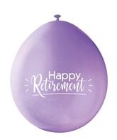 Assorted Colour Retirement Latex Balloons 10pk