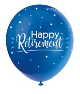 """Pearl Assorted Colour 12"""" Retirement Latex Balloons 5pk"""