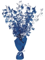 Blue Birthday Glitz Age 16 Foil Balloon Weight Centrepiece 16.5""