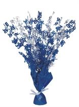 """Blue Birthday Glitz Age 30 Foil Balloon Weight Centrepiece 16.5"""""""