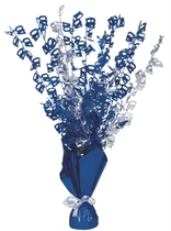 Blue Birthday Glitz Age 40 Foil Balloon Weight Centrepiece 16.5""