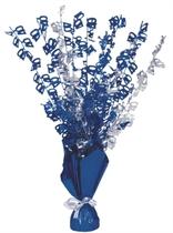 """Blue Birthday Glitz Age 40 Foil Balloon Weight Centrepiece 16.5"""""""