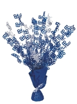 Blue Birthday Glitz Age 65 Foil Balloon Weight Centrepiece 16.5""