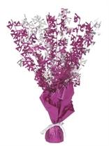 """Birthday Glitz Age 21 Foil Balloon Weight Centrepiece 16.5"""" - Pink"""
