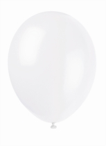 "12"" Linen White Latex Balloons - 50pk"