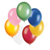 """Assorted Colour 12"""" Latex Balloons - 50pk"""