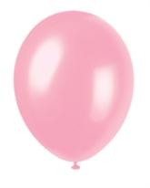 "12"" Crystal Pink Pearlized Latex Balloons - 50pk"