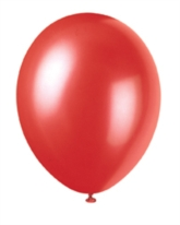 "12"" Flame Red Pearlized Latex Balloons - 50pk"