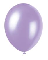 "12"" Lovely Lavender Pearlized Latex Balloons - 50pk"