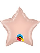 "Rose Gold 9"" Star Foil Balloon Unpackaged"