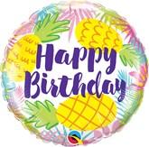 "Happy Birthday Pineapples 18"" Foil Balloon"