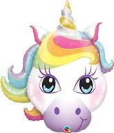 """Magical Unicorn Head 38"""" Foil Balloon"""