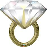 "Diamond Wedding Ring 37"" Foil Balloon"