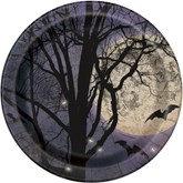 "Halloween Spooky Night 9"" Paper Plates 8pk"