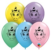 "Unicorn Head 5"" Latex Balloons 100pk"