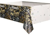 Glittering New Year Plastic Tablecover