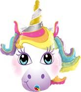 """Magical Unicorn 14"""" Air Fill Foil Balloon"""