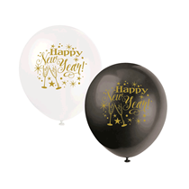 "Happy New Year 12"" Latex Balloons 8pk"