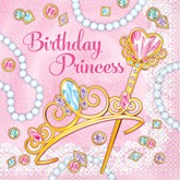 Pink Princess Luncheon Napkins 16pk
