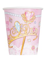 Pink Princess 9oz Paper Cups 8pk