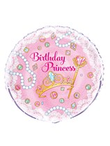 "Pink Birthday Princess 18"" Foil Balloon"