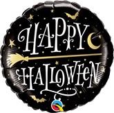 "Halloween Golden Broomstick 18"" Foil Balloon"