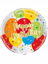 "Glitzy Gold Happy Birthday 18"" Foil Balloon"