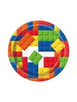 "Building Blocks 7"" Paper Plates 8pk"