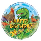 "Dinosaur Party Happy Birthday 18"" Foil Balloon"