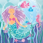 Mermaid Party Paper Lunch Napkins 16pk