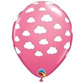 "Rose Clouds 11"" Latex Balloons 25pk"