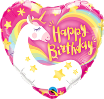 "Magical Birthday Unicorn 9"" Air Fill Foil Balloon"