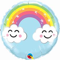 "Sunshine Rainbow 2-Sided 9"" Air Fill Foil Balloon"