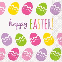Easter Egg Lunch Napkins 16pk