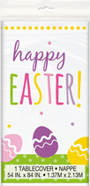 Happy Easter Eggs Plastic Tablecover