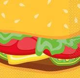 Burger BBQ Beverage Napkins 16pk