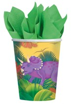 Prehistoric Dinosaur Paper Cups 8pk
