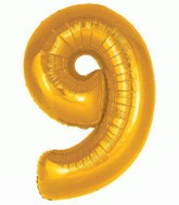 "30"" Gold Number 9 Foil Balloon"