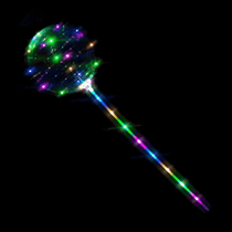 "Magical 12"" Light Up LED Balloon With Stick"