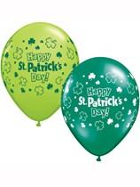 """Happy St Patrick's Day 11"""" Latex Balloons 25pk"""