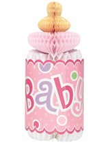 Baby Shower Pink Dots Honeycomb Decoration