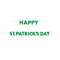 Happy St Patrick's Day Foil Letter Banner 10ft