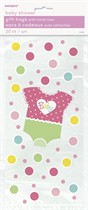 Baby Girl Dotty Cello Bags 20pk