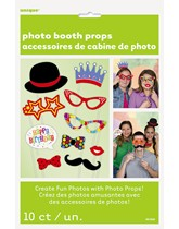 Birthday Party Photo Props 10pk