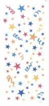 Colourful Stars Sweet Bags with Twist Ties 20pk