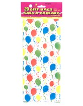 20 Festive Balloons Cello Bags