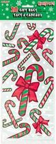 Christmas Candy Cane Cello Gift Bags 20pk
