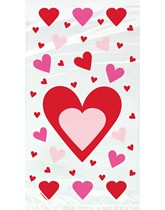 Valentine's Hearts Cello Bags 20pk